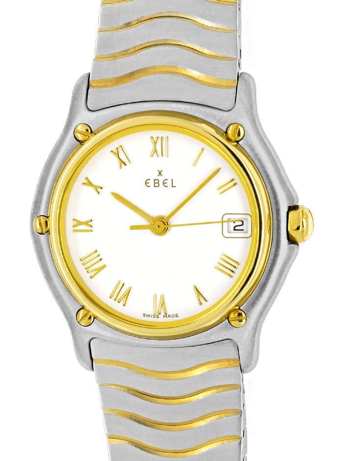 Foto 2 - Ebel Classic Wave Damen Armbanduhr mit Datum Stahl Gold, U2230
