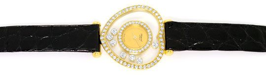 Foto 1, Chopard Happy Diamonds Herz Damen-Armbanduhr, Gelb-Gold, U2231
