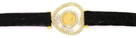 Foto 1 - Chopard Happy Diamonds Herz Damen Armbanduhr, Gelb Gold, U2231