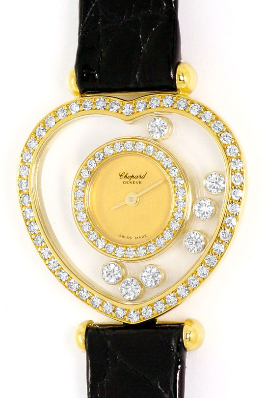 Foto 2, Chopard Happy Diamonds Herz Damen-Armbanduhr, Gelb-Gold, U2231