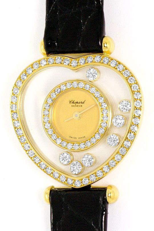 Foto 2 - Chopard Happy Diamonds Herz Damen Armbanduhr, Gelb Gold, U2231
