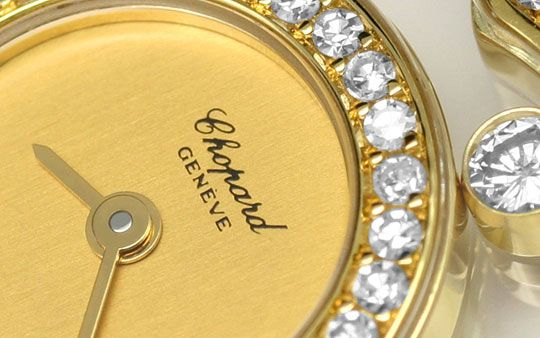 Foto 3 - Chopard Happy Diamonds Herz Damen Armbanduhr, Gelb Gold, U2231