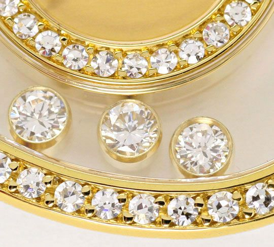 Foto 4 - Chopard Happy Diamonds Herz Damen Armbanduhr, Gelb Gold, U2231