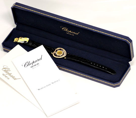 Foto 9, Chopard Happy Diamonds Herz Damen-Armbanduhr, Gelb-Gold, U2231