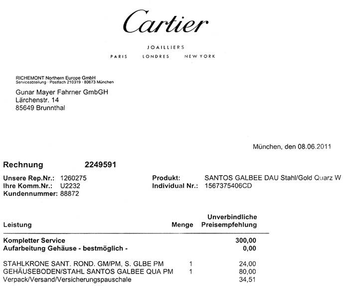 Foto 8 - Santos Galbee de Cartier Stahlgold Damen Uhr Neuzustand, U2232