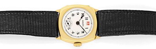 Foto 1, antike Rolex in Gelb-Gold Vintage Armbanduhr Non-Oyster, U2236