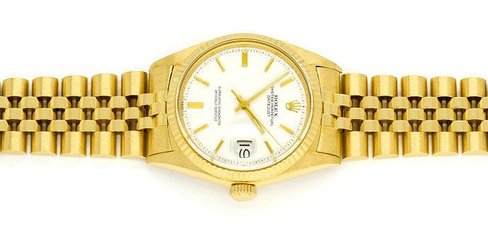 Foto 1 - Rolex Datejust Herrenuhr 18K Gelbgold Original aus 1966, U2243