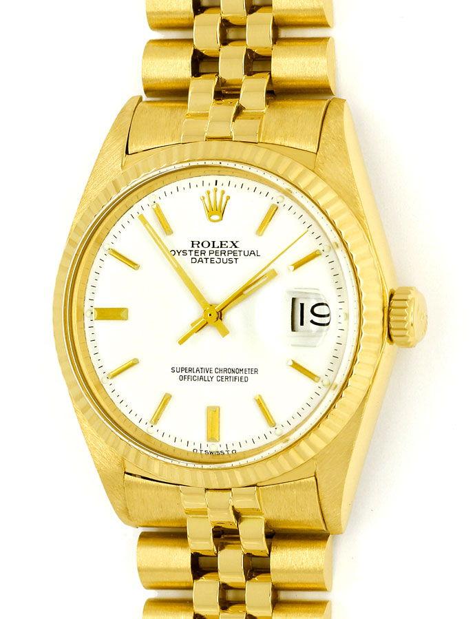 Foto 2 - Rolex Datejust Herrenuhr 18K Gelbgold Original aus 1966, U2243