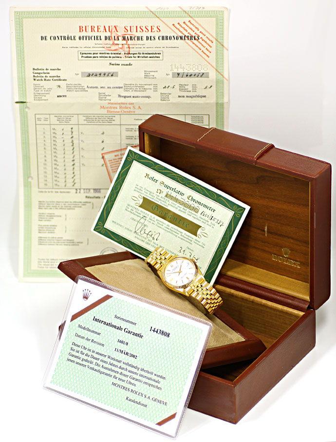 Foto 6 - Rolex Datejust Herrenuhr 18K Gelbgold Original aus 1966, U2243