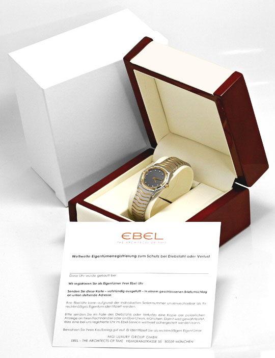 Foto 5 - Ebel Sport Classic Diamant Zifferblatt Stahl Gold Damen, U2244