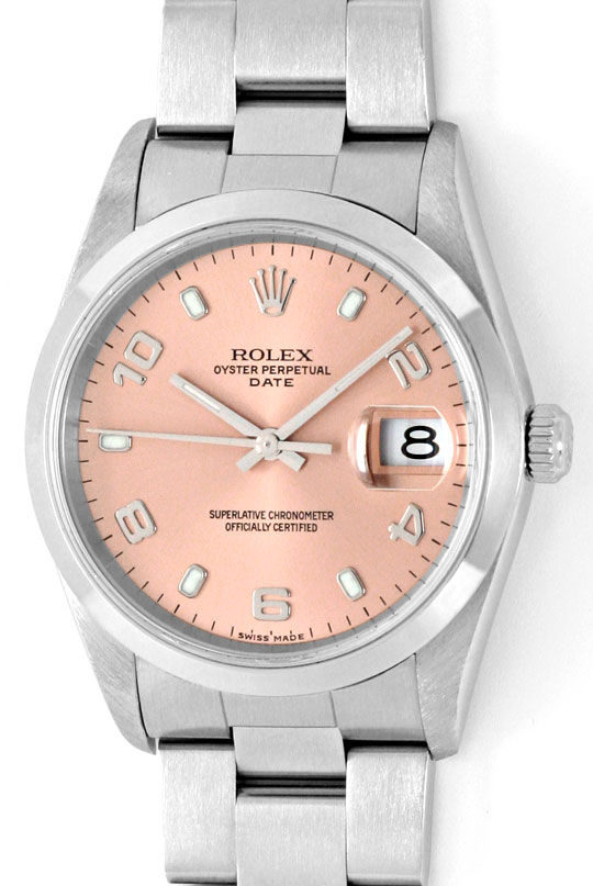 Foto 2, Rolex Date Oyster Perpetual Edelstahl Herren-Armbanduhr, U2245