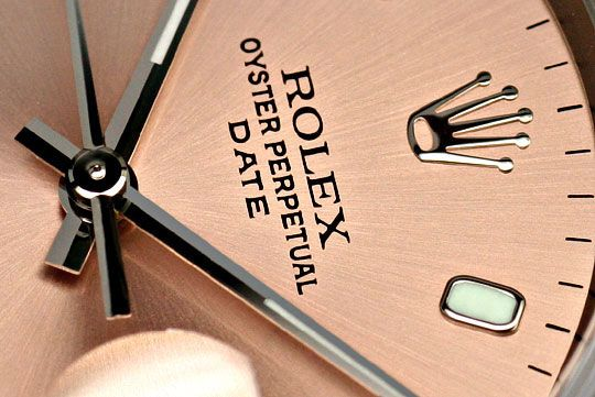 Foto 3 - Rolex Date Oyster Perpetual Edelstahl Herren Armbanduhr, U2245