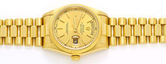 Foto 1 - Rolex Day Date Praesident Band Gelbgold Spitzen Zustand, U2248
