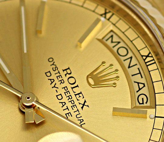 Foto 3, Rolex Day-Date Praesident-Band Gelbgold Spitzen-Zustand, U2248