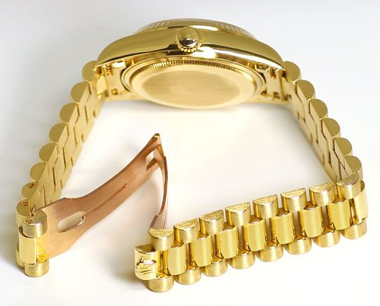 Foto 5 - Rolex Day Date Praesident Band Gelbgold Spitzen Zustand, U2248