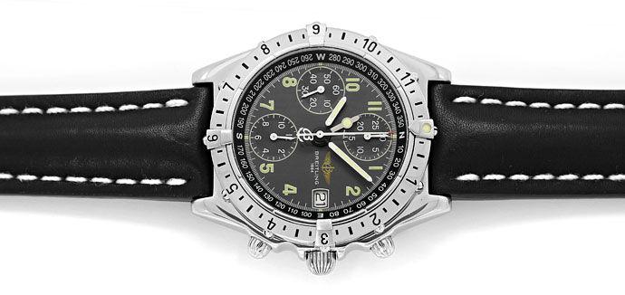 Foto 1 - Breitling Chronomat Longitude GMT Herrenuhr Leder Stahl, U2250