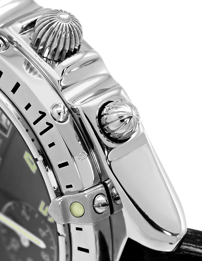 Foto 4 - Breitling Chronomat Longitude GMT Herrenuhr Leder Stahl, U2250