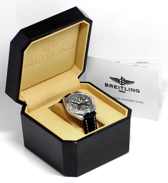 Foto 6 - Breitling Chronomat Longitude GMT Herrenuhr Leder Stahl, U2250
