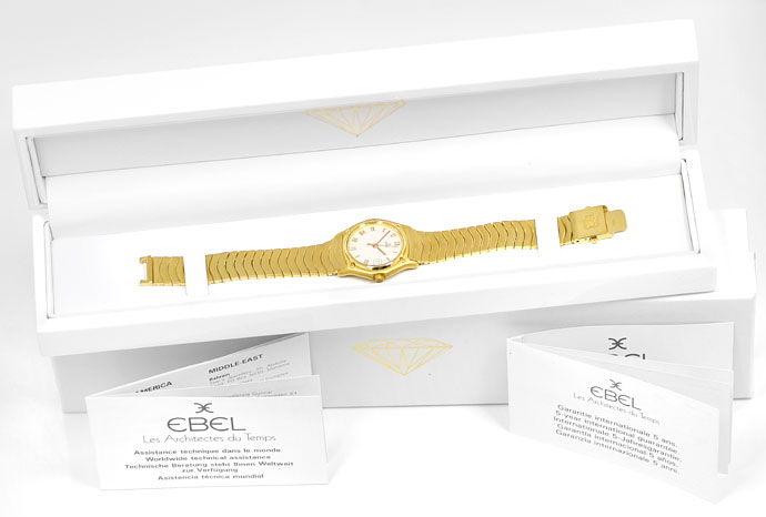Foto 5 - Ebel Classic Damenarmbanduhr mit Wellenband in Gelbgold, U2253