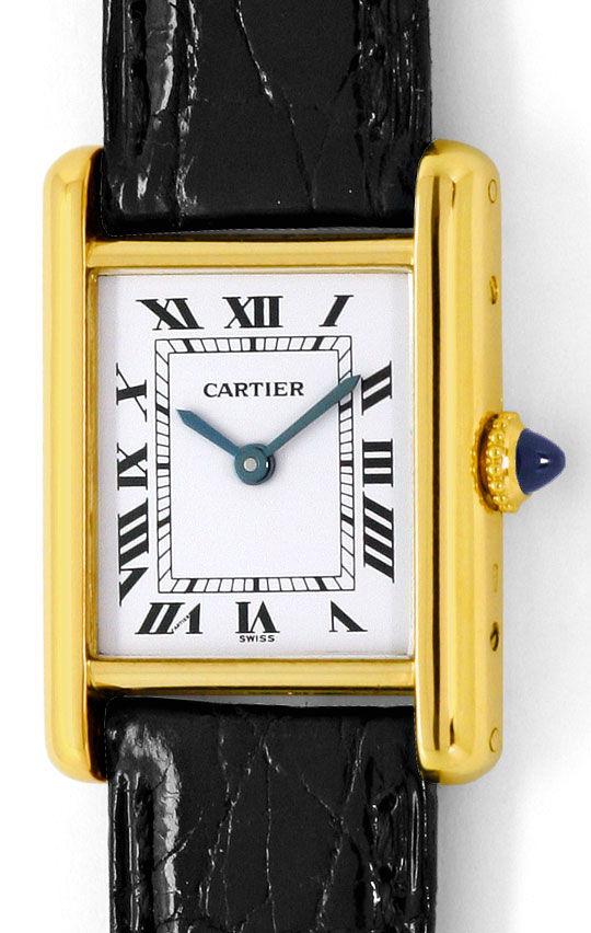 Foto 2, Cartier Tank Louis Cartier Damen Gelbgold Faltschliesse, U2256