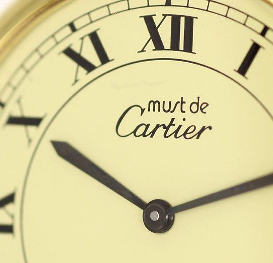 Foto 3 - Must de Cartier Herrenuhr Vendome Louis Cartier Vermeil, U2258