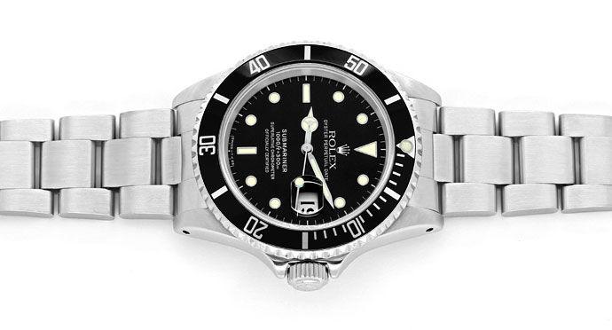 Foto 1 - Rolex Submariner Date Schwarz Stahl Spitzen Top Zustand, U2259