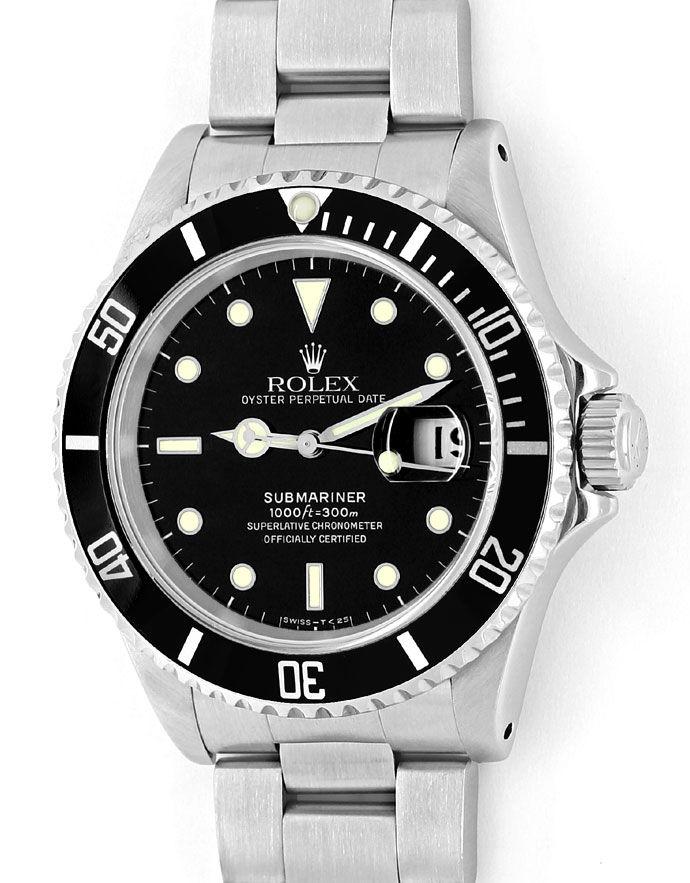Foto 2 - Rolex Submariner Date Schwarz Stahl Spitzen Top Zustand, U2259