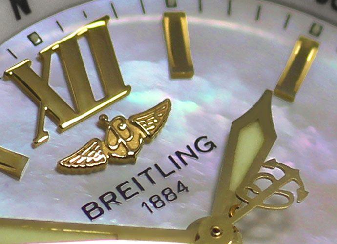Foto 3 - Breitling Damenuhr B Class mit Pilotarmband, Stahl Gold, U2266