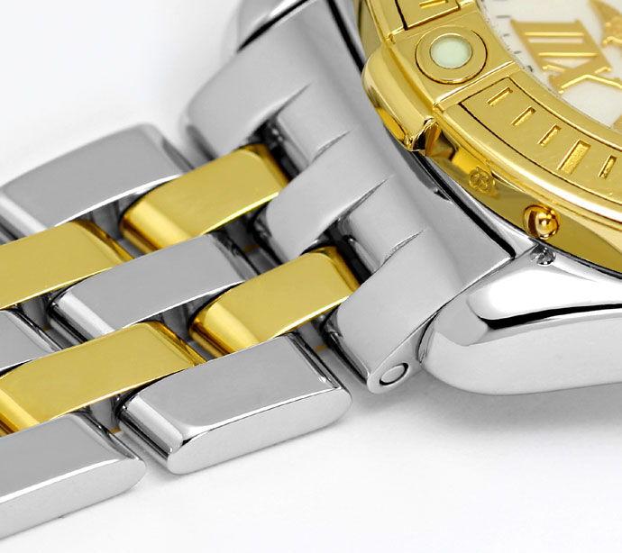 Foto 4 - Breitling Damenuhr B Class mit Pilotarmband, Stahl Gold, U2266