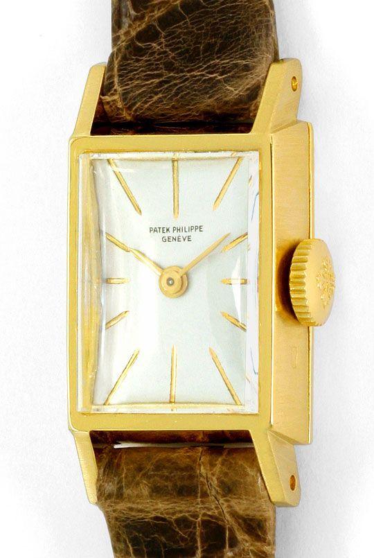 Foto 2, Patek Philippe 3280 Vintage Damen-Armbanduhr, Gelb-Gold, U2267