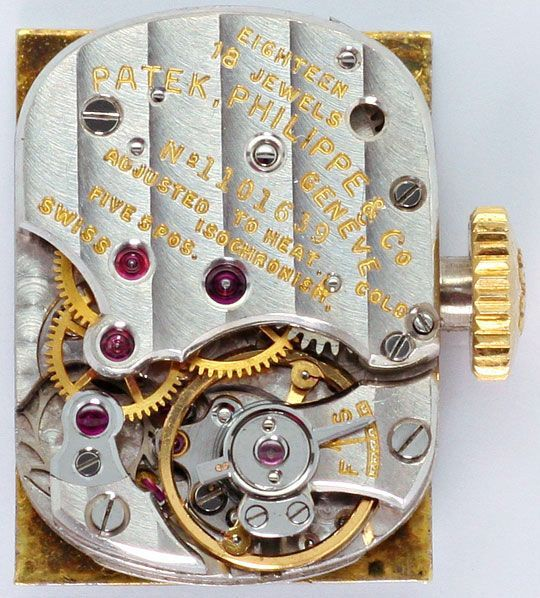 Foto 4, Patek Philippe 3280 Vintage Damen-Armbanduhr, Gelb-Gold, U2267