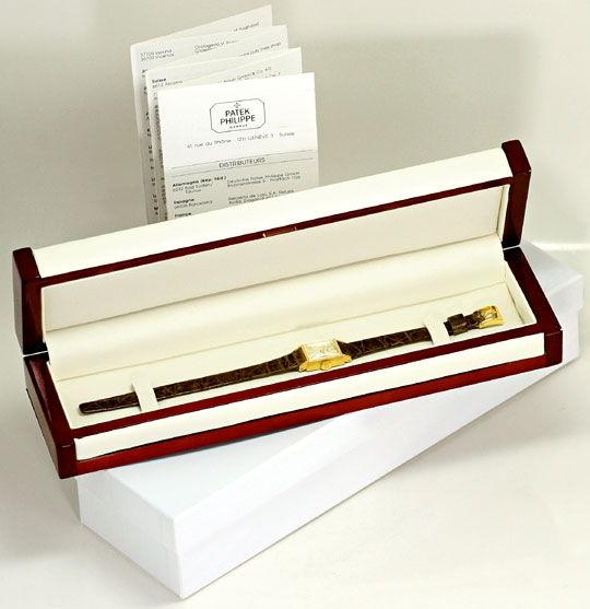 Foto 6, Patek Philippe 3280 Vintage Damen-Armbanduhr, Gelb-Gold, U2267