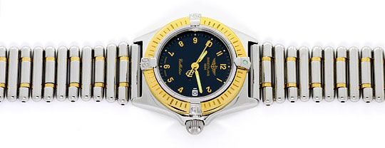 Foto 1, Breitling Callistino Rouleaux-Band Stahl-Gold Damen-Uhr, U2272