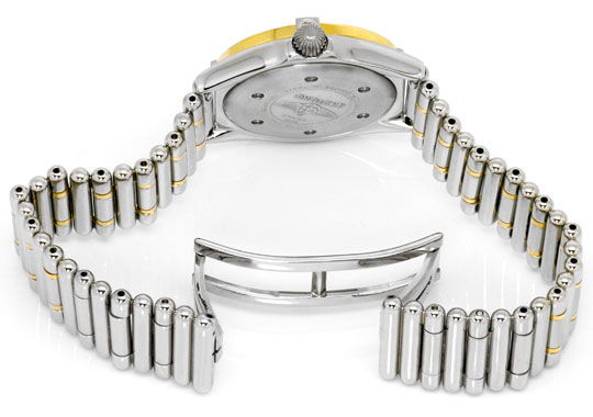 Foto 5, Breitling Callistino Rouleaux-Band Stahl-Gold Damen-Uhr, U2272