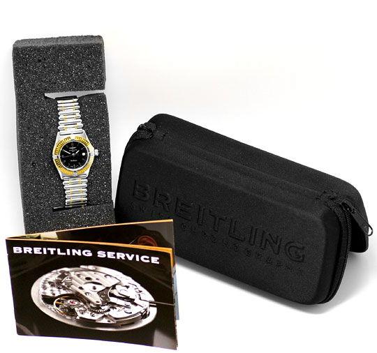 Foto 6, Breitling Callistino Rouleaux-Band Stahl-Gold Damen-Uhr, U2272