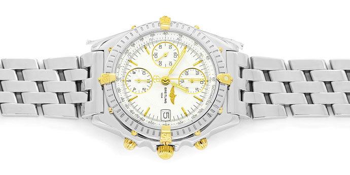 Foto 1 - Breitling Chronomat Stahl Gold Herren Uhr Pilot Armband, U2273