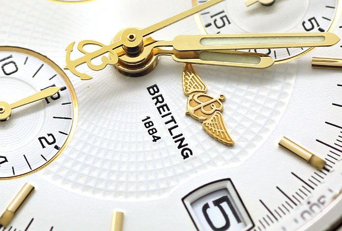 Foto 3 - Breitling Chronomat Stahl Gold Herren Uhr Pilot Armband, U2273