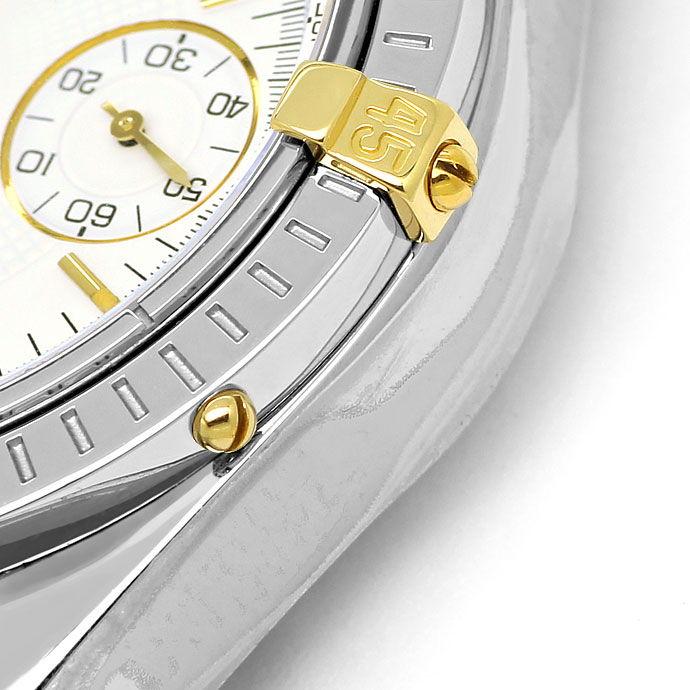 Foto 4 - Breitling Chronomat Stahl Gold Herren Uhr Pilot Armband, U2273