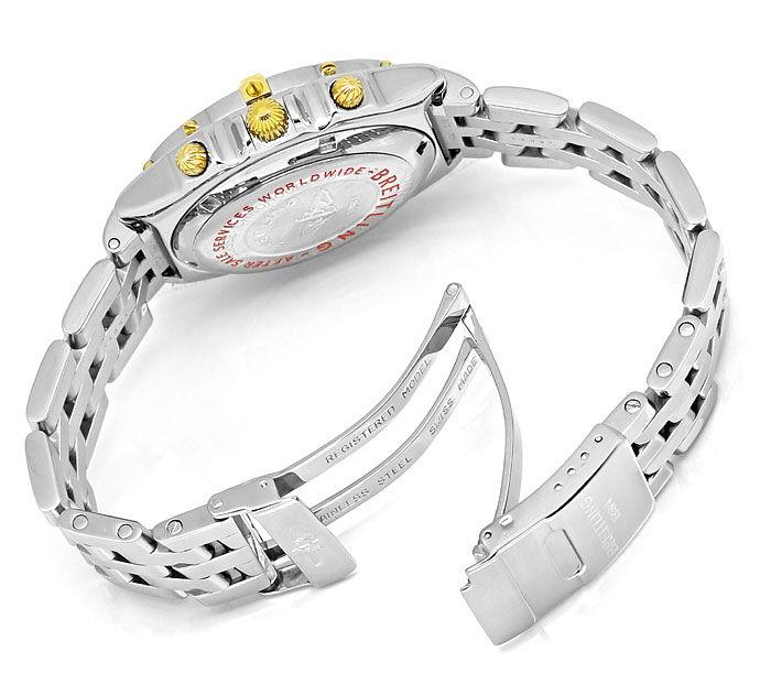 Foto 5 - Breitling Chronomat Stahl Gold Herren Uhr Pilot Armband, U2273