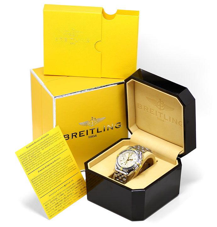 Foto 6 - Breitling Chronomat Stahl Gold Herren Uhr Pilot Armband, U2273