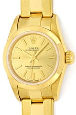 Rolex Oyster Perpetual Gelbgold Damenuhr mit Oysterband
