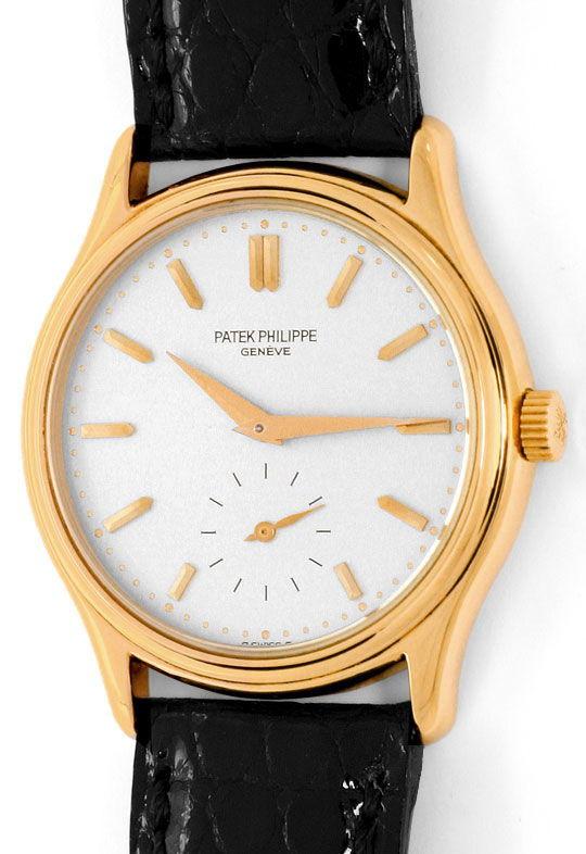 Foto 2 - Patek Philippe Calatrava 3923 Rosegold 18K Kroko Herren, U2277