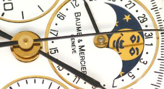 Foto 3, Baume und Mercier Mondphase Chronograph STG Sammler-Uhr, U2280