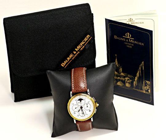 Foto 6, Baume und Mercier Mondphase Chronograph STG Sammler-Uhr, U2280