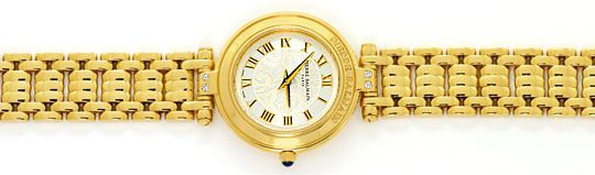 Foto 1, Pierre Balmain Paris Diamanten-Damenarmbanduhr Gelbgold, U2281