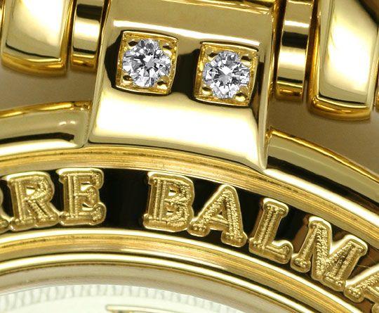 Foto 4, Pierre Balmain Paris Diamanten-Damenarmbanduhr Gelbgold, U2281