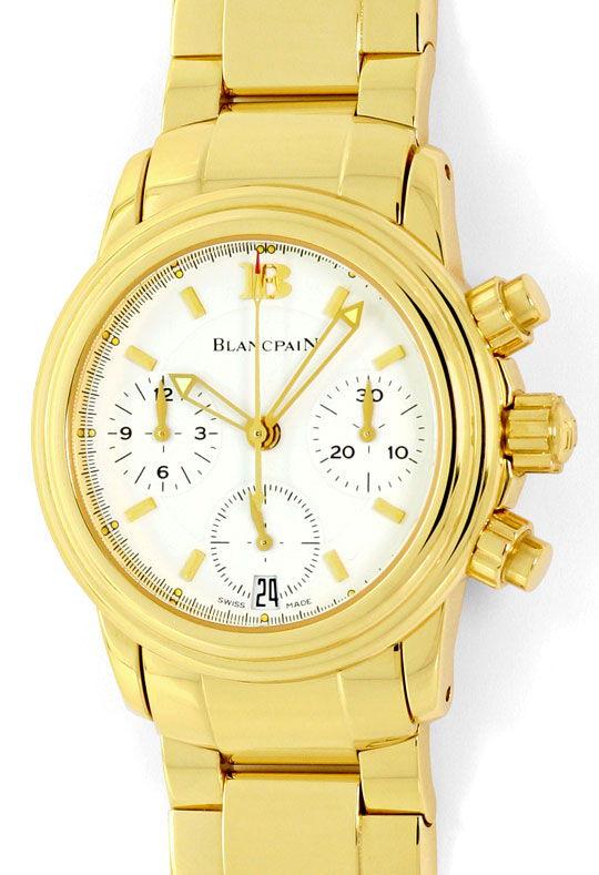 Foto 2, Blancpain Leman Chronograph Gelb-Gold Automatik, Medium, U2282