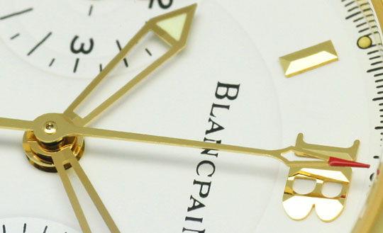 Foto 3, Blancpain Leman Chronograph Gelb-Gold Automatik, Medium, U2282