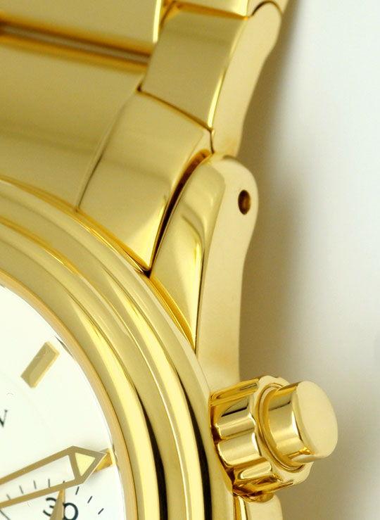 Foto 4, Blancpain Leman Chronograph Gelb-Gold Automatik, Medium, U2282