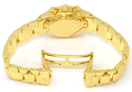 Foto 6, Blancpain Leman Chronograph Gelb-Gold Automatik, Medium, U2282